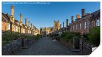 Vicar's Close, Wells Cathedral, Somerset, England, Print
