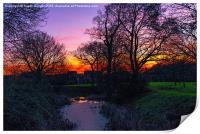 Colourful Sunset, Print