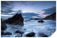 Cornwall Coast at Whitsand Bay, Print