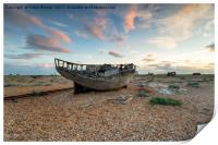 Abandoned Fishing Boat, Print