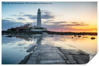 Stunning Sunrise over St Mary's Lighthouse, Print