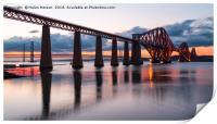 Sunset over the Forth Bridge, Print