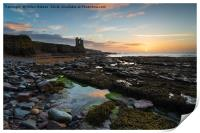 Keiss Castle at Caithness in Scotland, Print