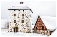 Hovdala Castle Gatehouse in Winter, Print