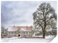 Hovdala Castle in Winter, Print