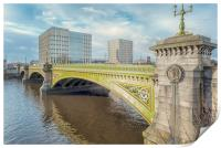 Glasgow Albert Bridge, Print
