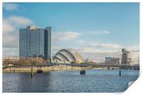 Glasgow Clydeside Cityscape, Print