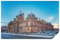 Govan Town Hall Right Side View, Print