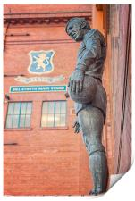 Rangers Ibrox Stadium Statue, Print