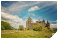 Kilchurn Castle Landscape, Print