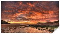 Manobier Sunset, Print