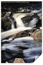 Waterfall in Glen Orchy, Print