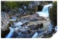 River Coupall Waterfall , Print