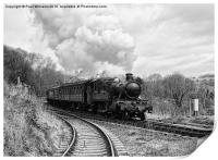 Rainy Day Steam 6 (enhanced monochrome), Print