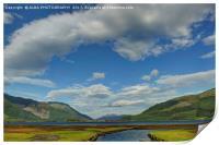 Loch Leven, Glencoe, Scotland., Print