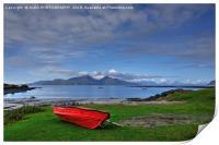 Isle of Rum, Small Isles, Scotland, Print
