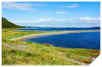 Summer on Porsangerfjorden , Print