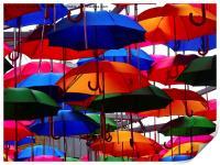 A shower of umbrellas , Print