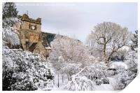 Snow Scene in Betws-y-Coed, Print