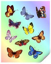 Bright Butterflies, Print