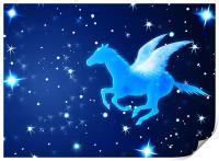 Pegasus Flying In the Night, Print