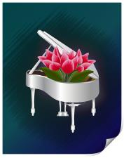 Tulips In Piano, Print