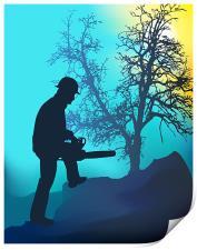 Landscape Worker, Print