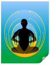 Yoga - Lotus Position, Print