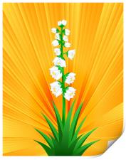 Blooming Yucca, Print