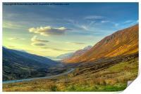 Sunset in Glen Docherty, Print