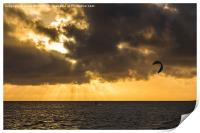Kite surfing in Cuba, Print