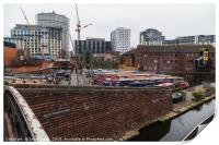 New buildings being erected around the old canal i, Print