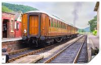 Steam Train Leaving Levisham Station, Print