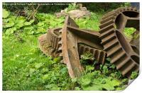 Rusty Gears, Print