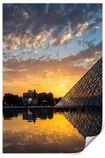 Louvre Sunset, Print