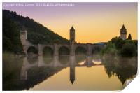 Pont Valentre Cahors, Print