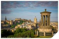 Early Morning over Edinburgh, Print