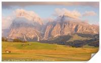 Last light at Alpe Di Suisi, Print