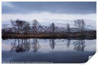 Steely Skies on Rannoch Moor, Print