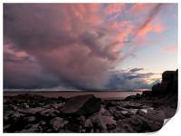 Stormy Sunset          , Print