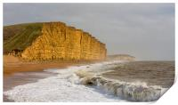 East Cliff at West Bay., Print