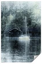 Seahouses B&W, Print
