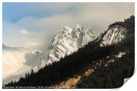 Mountain peaks and landscape, Print