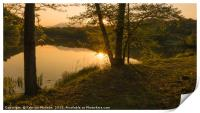 Sunset over the lake, Print
