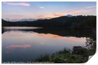 Pink clouds over the lake, Print