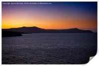greek sunset, Print