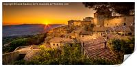 Volterra Sunset, Print