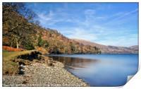 """""""Ullswater Lake-side"""", Print"""