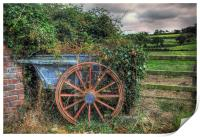 Old and Overgrown Cart, Print