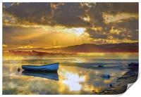 Misty River Sunrise, Print